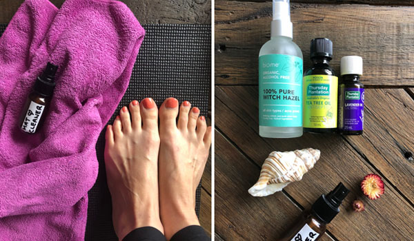 Make your own exercise mat cleaner